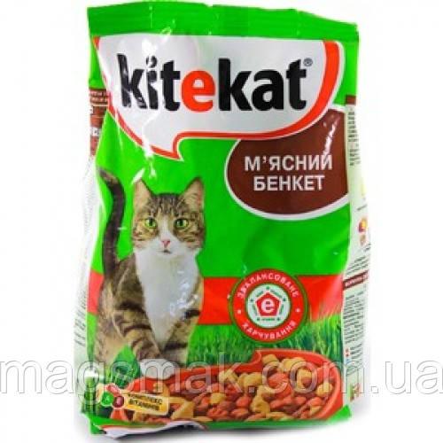 Сухой корм для котов Kitekat Мясной банкет 1кг х10