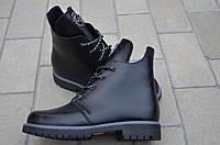 Ботинки женские кожаные подростковые черный от производителя KARMEN