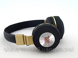 JBL V682 Headset копия, bluetooth наушники с FM MP3, черные с золотом, фото 3