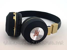 JBL V682 Headset копия, bluetooth наушники с FM MP3, черные с золотом, фото 2