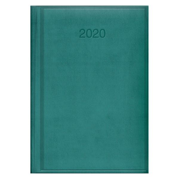 Ежедневник датированный BRUNNEN 2020 Стандарт Torino, темно-бирюзовый