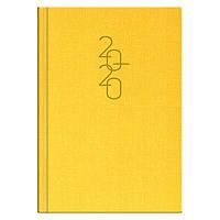 Ежедневник датированный BRUNNEN 2020 Стандарт Tweed желтый