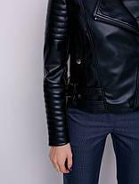 Куртка высокого качества косуха черная, размеры 42 и 48, фото 3