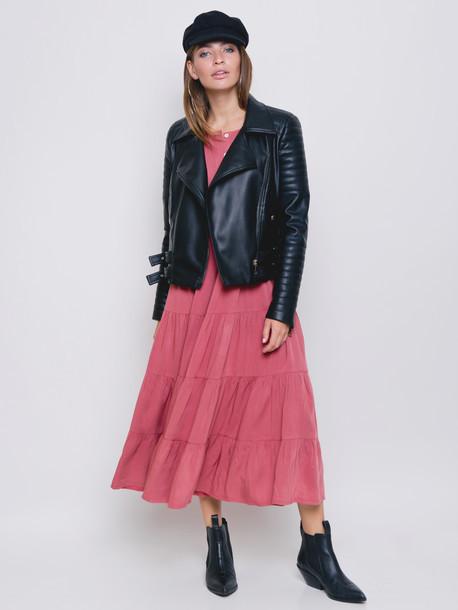 Куртка высокого качества косуха черная, размеры 42 и 48