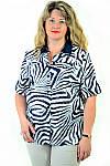 Блуза женская из хлопка стрейчевая , бл 056-2 ,48-56, фото 4