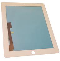 Сенсорный экран со стеклом для Apple iPad3, iPad4, белый