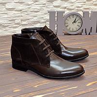 Ботинки мужские из натуральной кожи и замши коричневого цвета. 41 размер