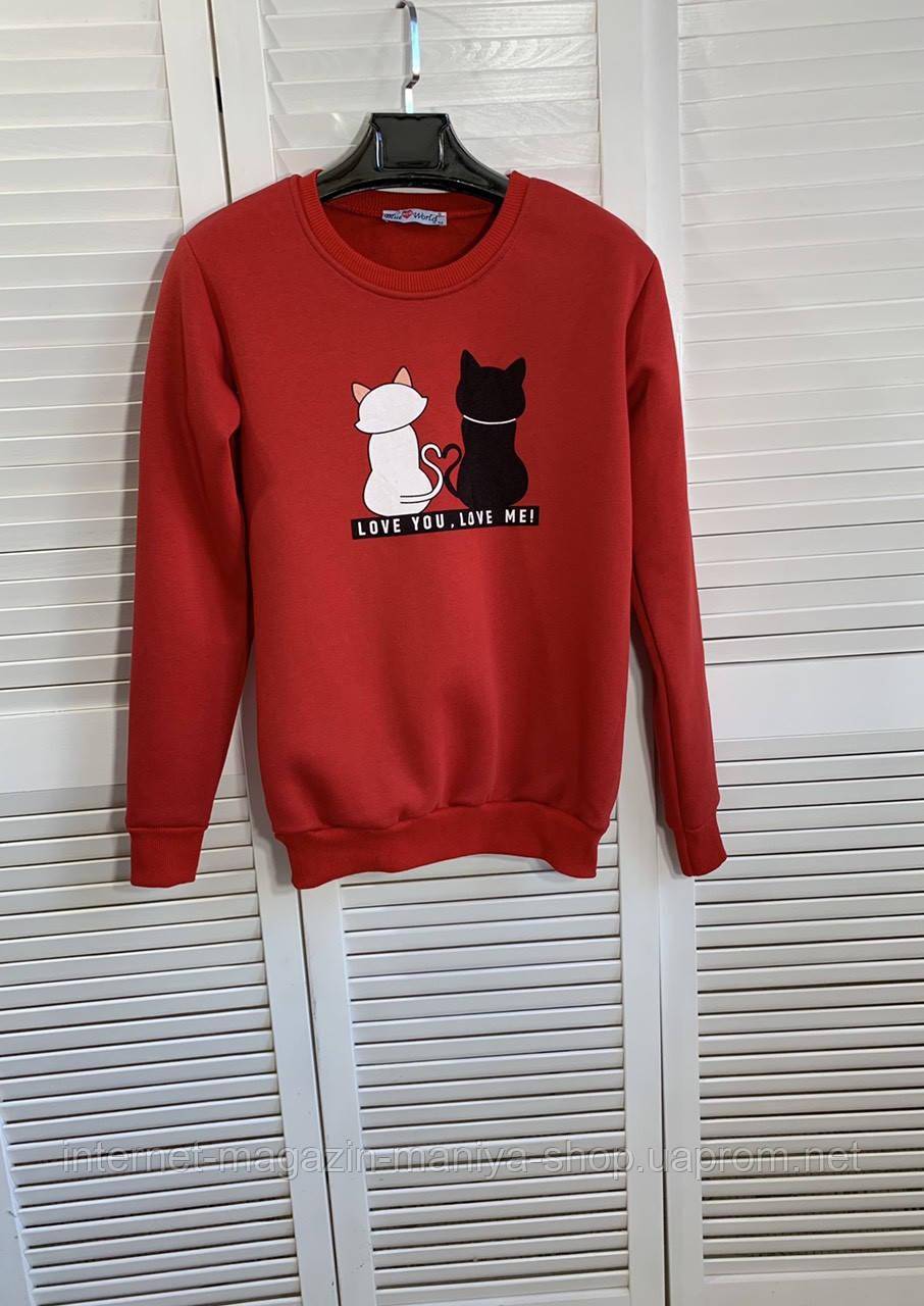 Реглан женский коты манжет S-XL (деми)