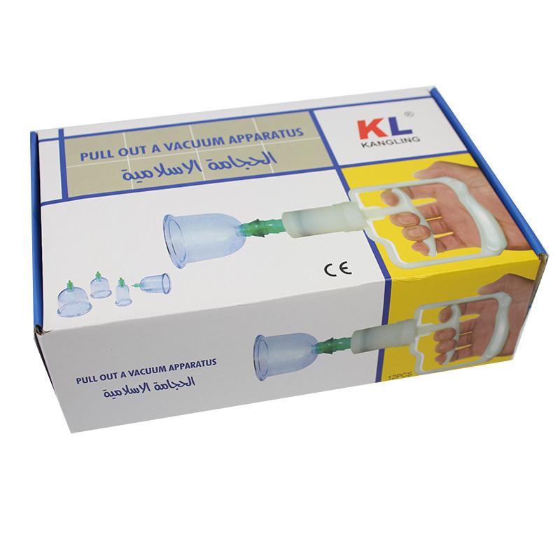 Массажные вакуумные банки 12 шт с насосом-вакууматором Kangling Vacuum Apparatus 154057