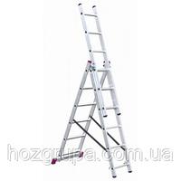 Лестница 3-секционная KRAUSE 010377/010376 Corda 3х7 ступеней