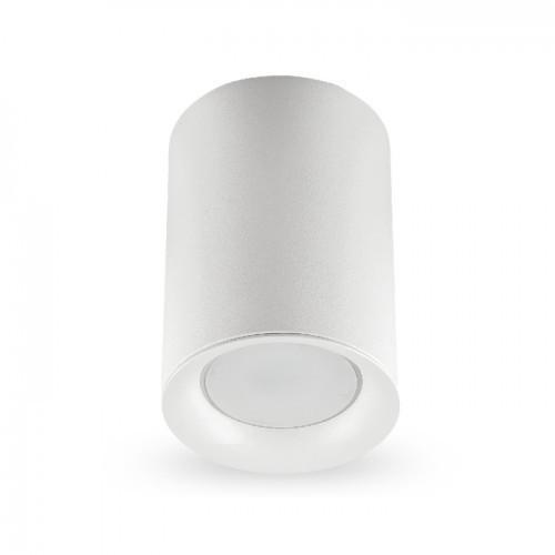 Накладной светильник цилиндр Feron ML174 под лампу MR16 GU10 белый 70*110мм