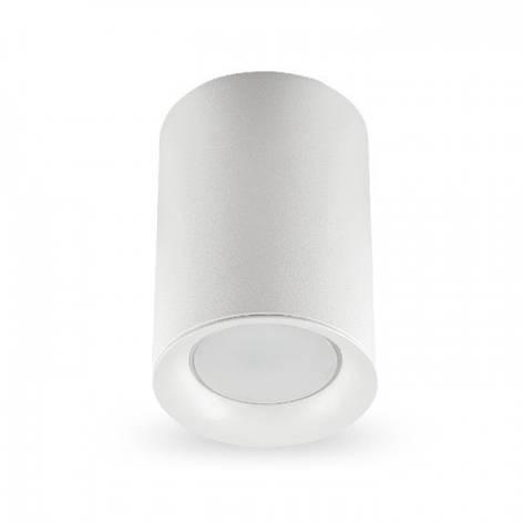 Накладной светильник цилиндр Feron ML174 под лампу MR16 GU10 белый 70*110мм, фото 2