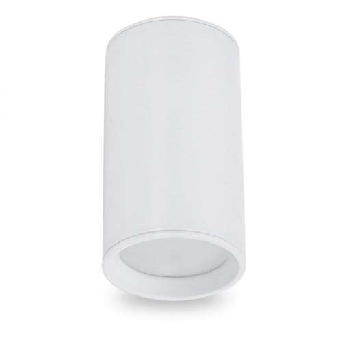Накладной светильник цилиндр Feron ML301 под лампу MR16 GU10 белый 56*100мм