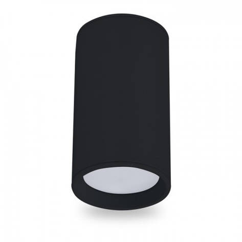 Накладной светильник цилиндр Feron ML301 под лампу MR16 GU10 черный 56*100мм, фото 2