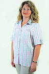 Блуза женская из хлопка стрейчевая , бл 056-1 ,48-56, фото 5