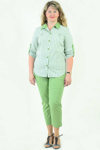Блуза Бл 056-1 женская из хлопка стрейчевая ,48-54