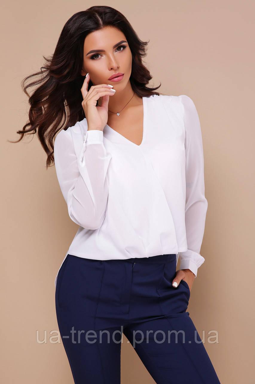 Нарядная белая женская блуза