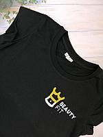 Футболка з логотипом чорна, фото 2