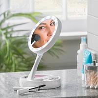 Двойное косметическое зеркало с Led подсветкой Miracle, Подвійне косметичне дзеркало з Led підсвічуванням Miracle