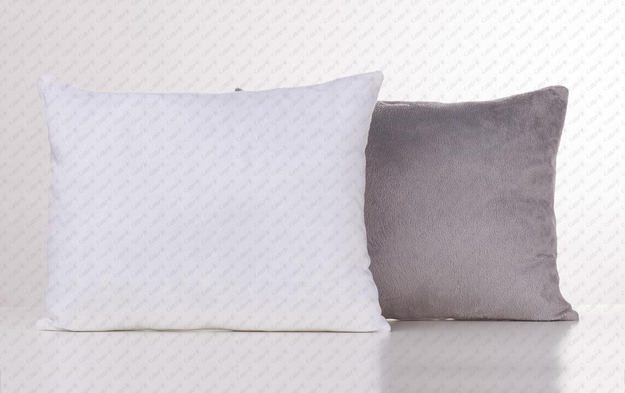 Подушка прямоугольник 35х45см. белый/ серый плюшевая для сублимации от производителя Украина