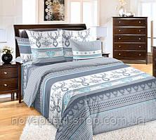 Лапландия синяя, постельное белье из перкаля (100% хлопок)
