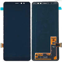 LCD Samsung A730/A8 Plus-2018 + touch Black Copy