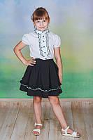 Блузка для девочки школьная белая