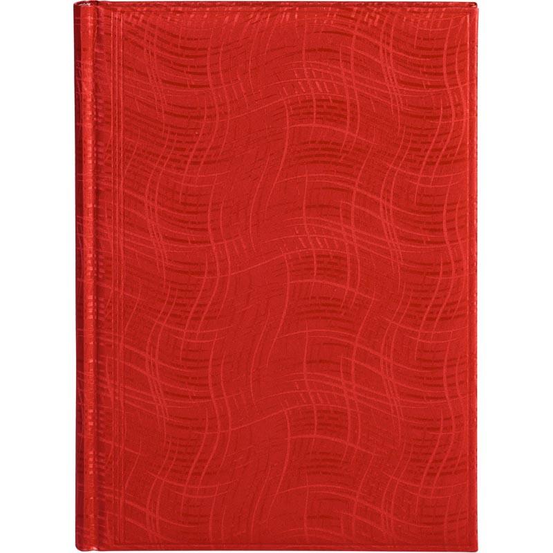 Ежедневник недатированный BRUNNEN Агенда Wave красный