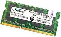 Оперативная память для ноутбука Crucial SODIMM DDR3 4Gb 1333MHz 10600s CL9 (CT51264BC1339.M16FR) Б/У, фото 1