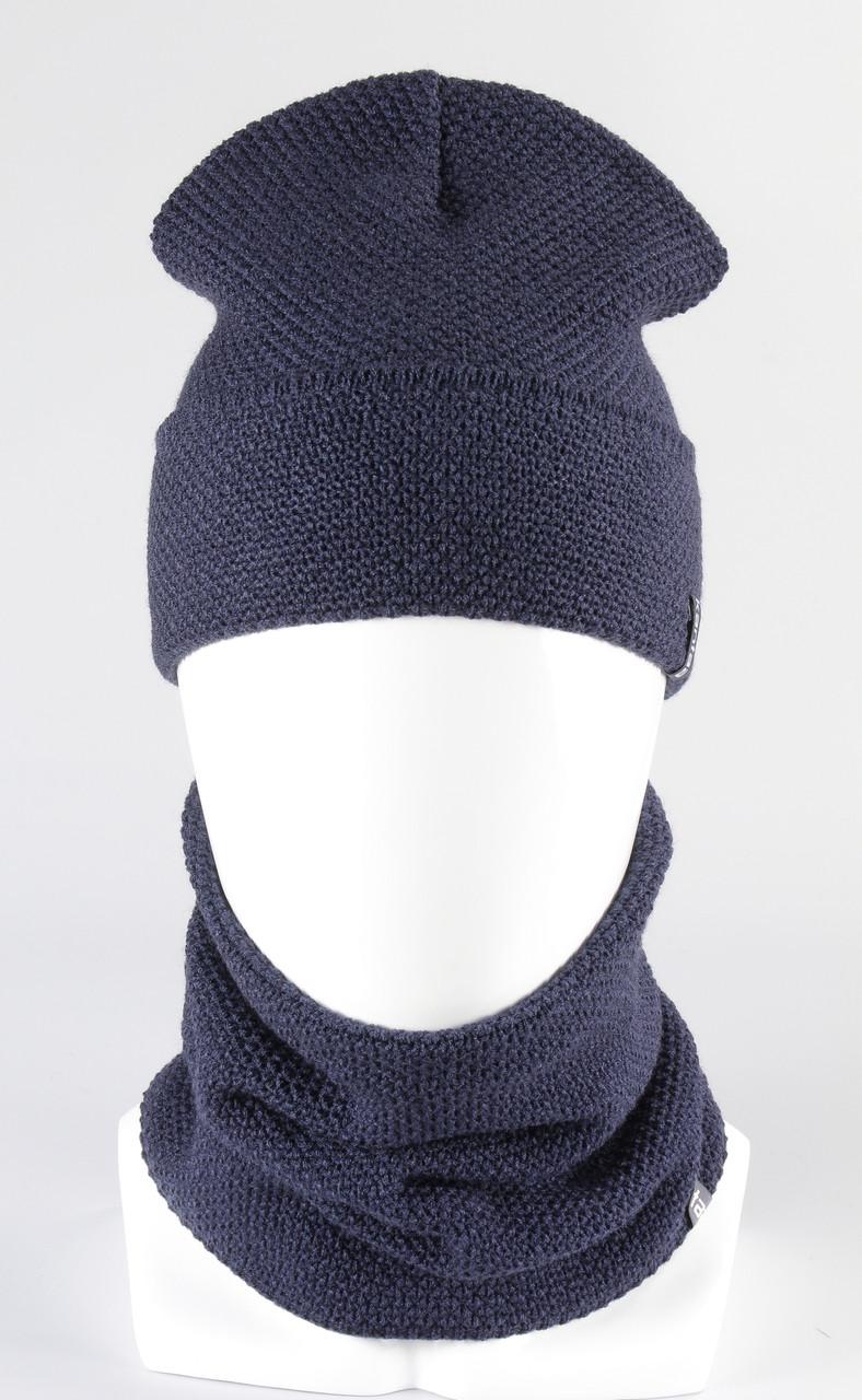 Подростковый набор шапка хомут KANTAA оптом джинс