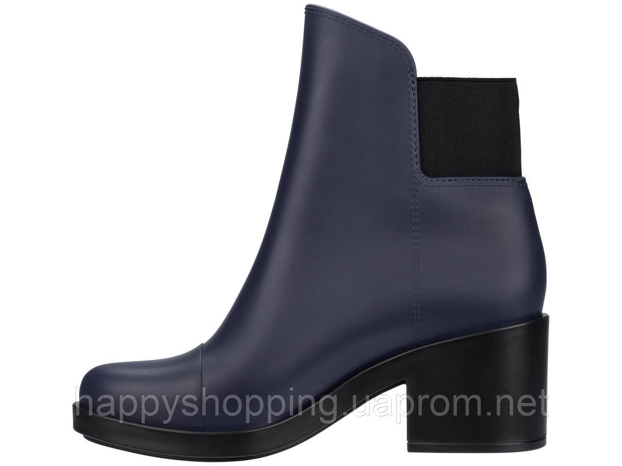 Женские пахнущие темно-синие ботинки на каблуке популярного бразильского бренда  Melissa