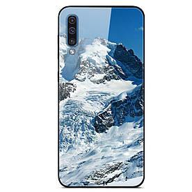 Чехол накладка для Samsung Galaxy A50 A505FD с зеркальной поверхностью, Горы