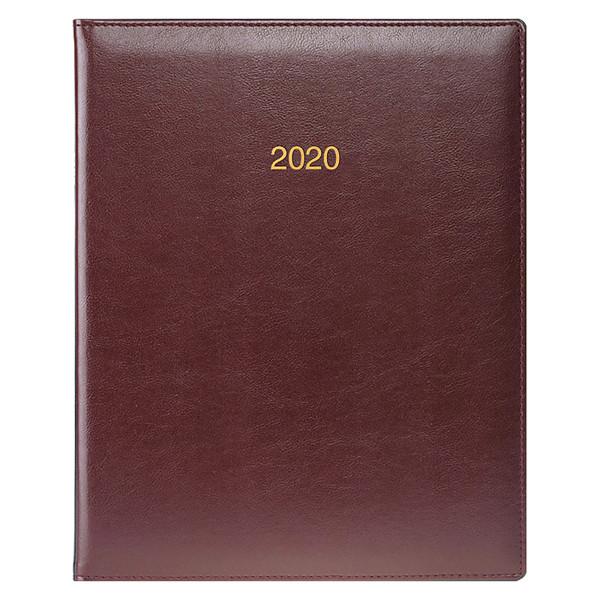 Еженедельник датированный BRUNNEN 2020 Бюро Soft, бордовый