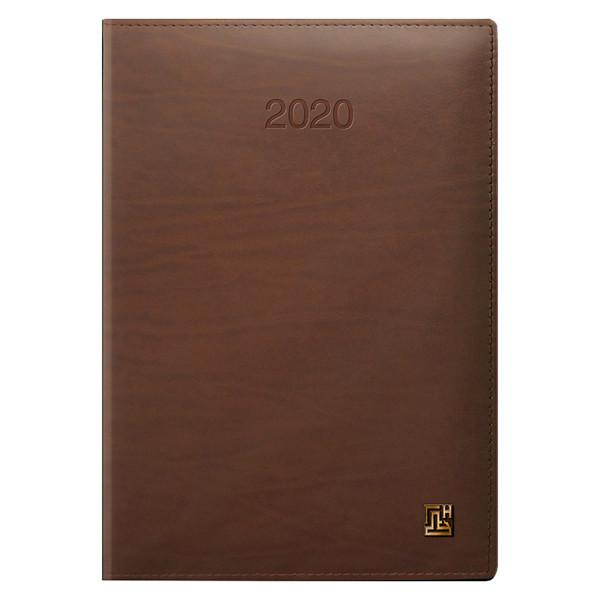 Ежедневник датированный BRUNNEN 2020 Стандарт LaFontaine, коньячный