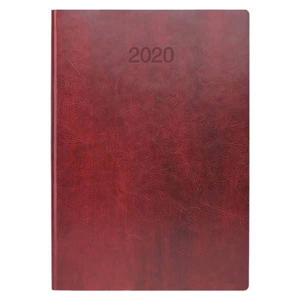 Ежедневник датированный BRUNNEN 2020 Стандарт Flex, бордовый