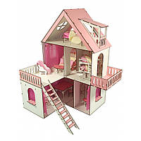 "Домик для кукол LOL ""Солнечная Дача"" с обоями, шторками, мебелью и текстилем (620х400х400 мм), фото 1"