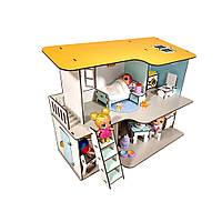 """Домик для кукол LOL """"Пляжный Домик"""" двухэтажный с мебелью и текстилем (320х200х400 мм)"""
