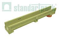 Лоток водоотводной CompoMax Basic ЛВ-10.14.13-ПВ полимербетонный с вертикальным водоотводом 700009