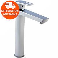 Смеситель для раковины высокий Imprese Breclav 05245WH хром/белый