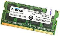 Оперативная память для ноутбука Crucial SODIMM DDR3 4Gb 1600MHz 12800s CL11 (CT51264BF160B.C16F1MD) Б/У, фото 1