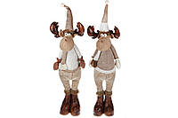 Мягкая декоративная игрушка Олени 100см, 2 вида, цвет - коричневый,  в упаковке 1шт. (880-101)