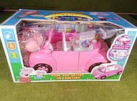 Семья свинки Пеппы на пикнике - машина трансформер + семья + аксессуар