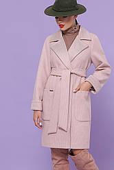 Бежеве пальто жіноче на осінь