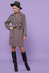 Демісезонне пальто під пояс 75% вовна