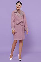 Вовняне пальто жіноче рожевого кольору