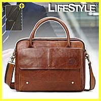 Мужская сумка из натуральной кожи Westal A4 v3