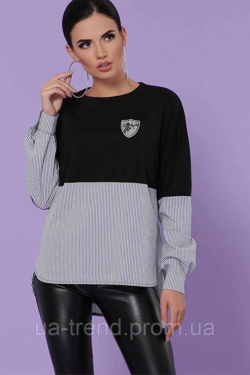 Женская кофта-рубашка в полоску
