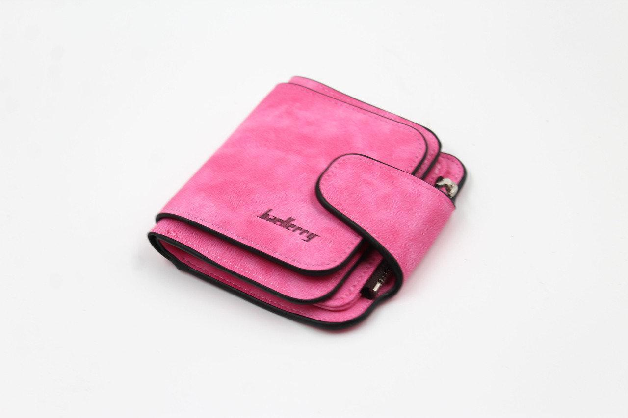 Кошелек женский бархатный розовый Baellerry N2346 MALINA