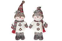 Мягкая новогодняя игрушка Снеговик, 2 вида, 46см, цвет - белый, в упаковке 1шт. (778-290)