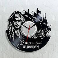 Часы Pirates of the Caribbean Пираты Карибского моря Часы из фильма Часы в комнату Виниловый декор 300 мм